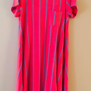 Sale! Lularoe Carly pink with silver stripes